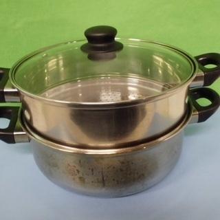コーナン 2段蒸し器26㎝ ステンレス鍋 いろいろな熱源に対応♪ ...