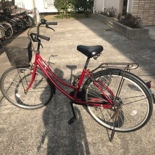 自転車 26インチ 赤 - 松戸市
