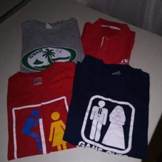 海外のお土産の未使用シャツ4枚1000円です!