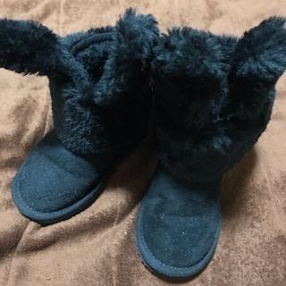 うさ耳付き ブーツ 17cm