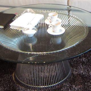 円形強化ガラス  プラットナー ローテーブル