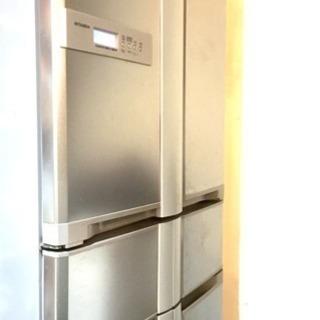 無料! 三菱 6ドア 冷蔵庫 シルバー