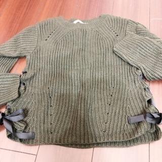 リボン付き セーター