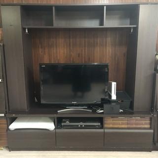 大容量 収納 TVボード リビング収納 テレビ台 ダークブラウン ...