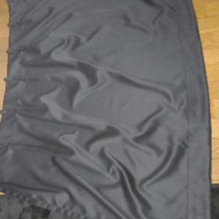 一級遮光の黒カーテンとおまけのブラインド