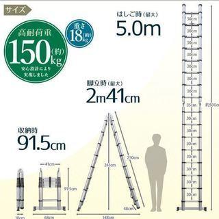 はしご伸縮5m(美品)
