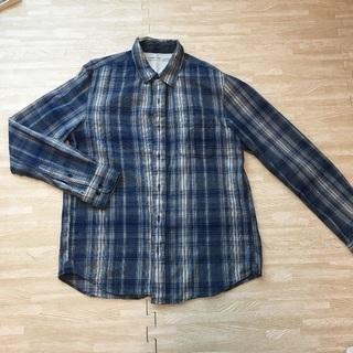 ユニクロ ブルーチェックシャツ