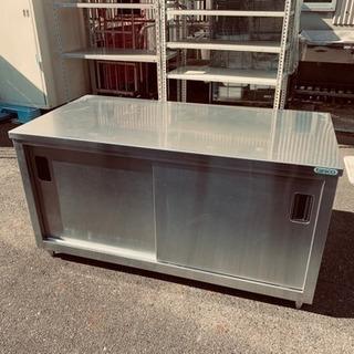 タニコー 収納作業台 両面スライド扉 W1500×H780×D75...