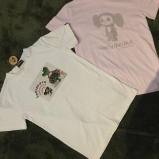 チェブラーシカTシャツ2枚セット レディースフリーサイズ