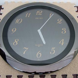 SEIKO 掛け時計 薄型 クオーツ 幅28cm ボタン電池仕様 ...