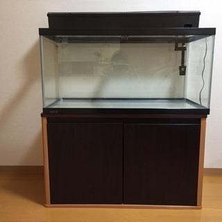 【値下】90センチ水槽セット (ガラス)