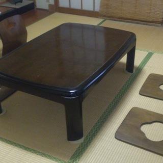 【和室・旅館】木製 座椅子4組*テーブル、座布団等は対象外