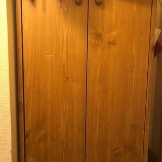 扉付き木製シューズボックス
