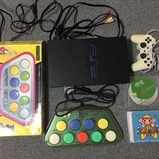 PS2とポップンミュージックのコントローラほか