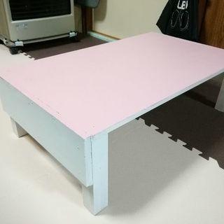 超適当に作って塗ったプレイテーブル(幅78 奥行47 高さ24) ...