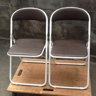 【おすすめ】折りたたみパイプ椅子 アスクルのTOKIO、ホワイトフ...