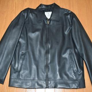 【身幅:60cm】黒 シングル レザージャケット xl【G…