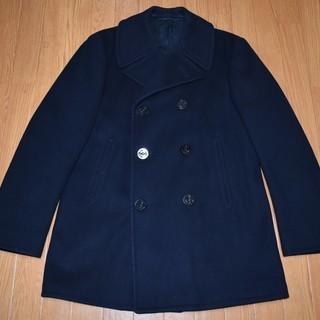 【身幅:54cm】紺のPコート 軍服 size 40【本物】m l