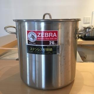 ほぼ新品 寸胴鍋 ずんどう鍋 26cm ステンレス IH可 テンポ...