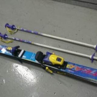 子供用スキー板 130㎝ ストック付き
