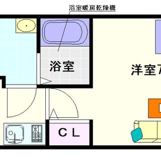 【ラシーヌ日本橋】2号タイプ!1Kタイプ!オール電化で光熱費が節約...