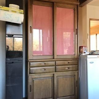 木製 食器棚 美品・格安でどうぞ❗️