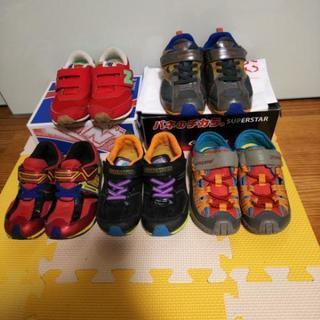 18cm靴スニーカーnew balance、スーパースターmoo...
