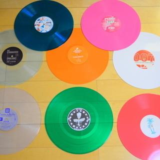 12inch カラー レコード 8枚 まとめて セット