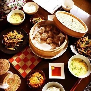 和食(すし飯作り、鶏南蛮蕎麦)と中華レッスン(焼売、青椒肉絲など)
