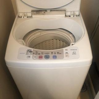 日立 洗濯機 差し上げます!