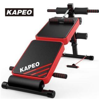 新品トレーニングベンチ 腹筋 背筋 折り畳み ダンベルベンチ ブラ...