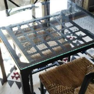 IKEA ガラスダイニングテーブル...