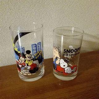 タンブラー コップ 2個組  ディズニー、スヌーピー