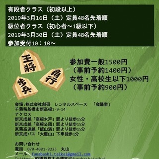 第三回船橋将棋大会(有段者クラス)