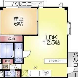 福島区でこんな1LDKとか結婚したら住みたいな♡
