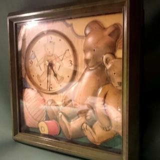 ◆クマさん掛時計◆クオーツ式◆動作確認済