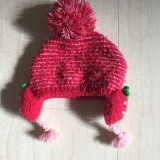 いちごの帽子 冬用