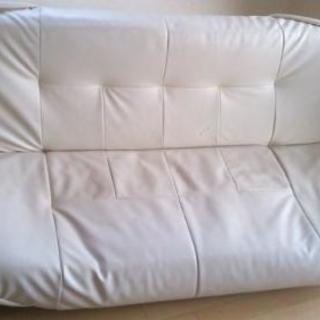 オフホワイト 簡易ソファーベッド