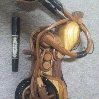 """木製、バイクの置物。販売されている物の1/3以下です!""""!!"""