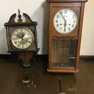 壁掛け時計 レトロ アンティーク 2台セット