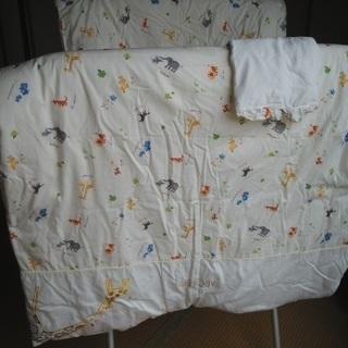 ベビー掛け布団(夏用&冬用)と枕のセット