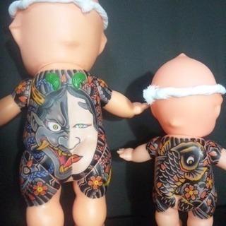 ✨刺青 キューピー人形 オーダーメイド タトゥー  名前入れ 和彫り✨