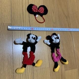 美品‼️ミッキーマウス ミニーマウス ヘアゴム 3点セット ディズニー