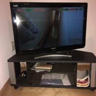 テレビ 32型シャープアクオス+テレビ台