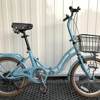 (中古)折りたたみ自転車(オートライト・ギア付き)
