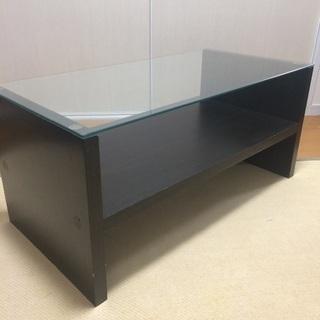 ガラス天板テーブル