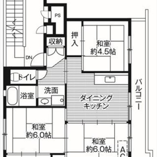 【初期費用は家賃のみ】勝山市のちょうどいいサイズの3DKです♪【保証会社不要・保証人不要】 - 不動産