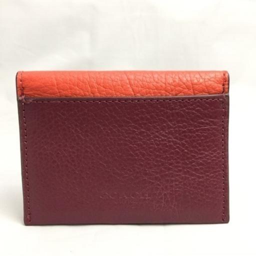 018fd8651f6a COACH コーチ バイカラー カードケース パスケース エンボスレザー 現品限り 新品未使用 タグ