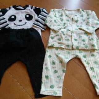 ノーブラント パジャマ 2枚セット 長袖 冬物 90サイズ