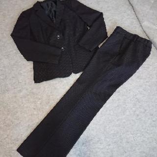 レディース パンツスーツ美品 (縦ストライプ)